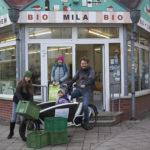 Team MiLaU mit Lastenrad Goldesel